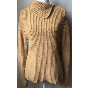 DKNY Ribbed thick knit construction sweater
